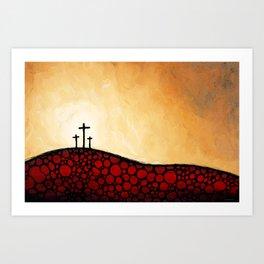 Forgiven - Christian Art By Sharon Cummings Art Print