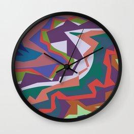 abstract colour Wall Clock