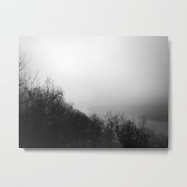 misty morning on the  hudson river Metal Print