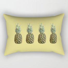 Four Juicy Pineapples Summer Fruits Series Rectangular Pillow
