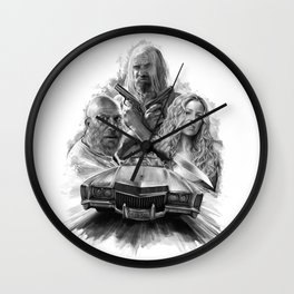 Homage to Rob Zombie's The Devil's Rejects Wall Clock