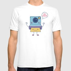 Instant Happy Mens Fitted Tee White SMALL