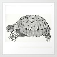 tortoise Art Prints featuring Tortoise by Carissa Tanton