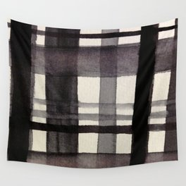 Painterly Plaid Wall Tapestry