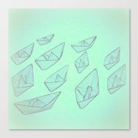 boats Canvas Prints featuring 'Boats' by Mr and Mrs Quirynen