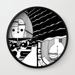 Upside Down Snooze Woman Wall Clock