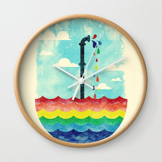 Pond Of Color Wall Clock
