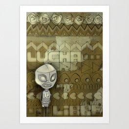 lucha libre Art Print