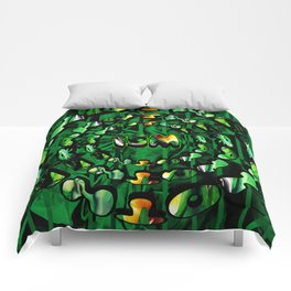 Flowers in Another ism Comforters