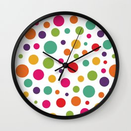 Jolly Colorful Dots Wall Clock