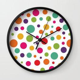 Jolly Colorful Dots Wall Clock