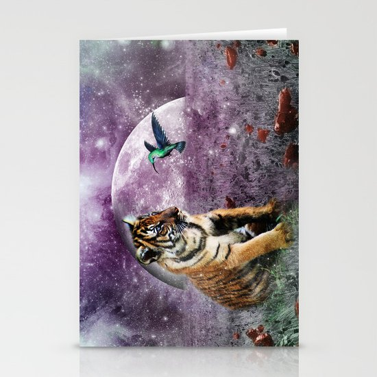 Tiger and Hummingbird Stationery Cards
