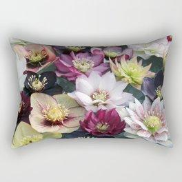 Christmas Spring Flower Floral Flora Eclectic Mix Color Rectangular Pillow