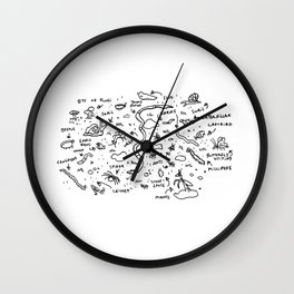 Friends to Find Under a Log Wall Clock