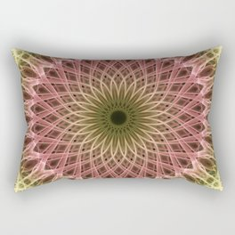Detailed mandala in gold and red ones Rectangular Pillow