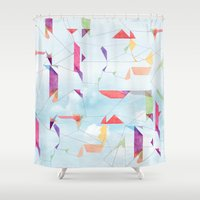 fly Shower Curtains featuring fly  by sandesign