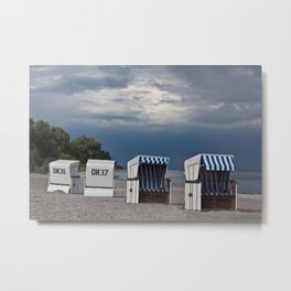 evening at the beach in boltenhagen Metal Print