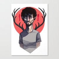 will graham Canvas Prints featuring Will Graham by nucleir