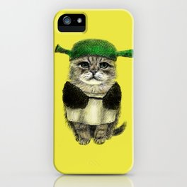 Shreky Cat iPhone Case