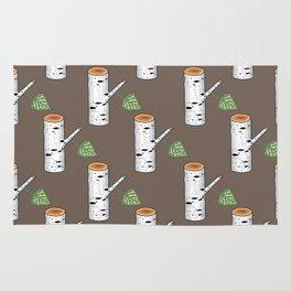 birch billets pattern Rug