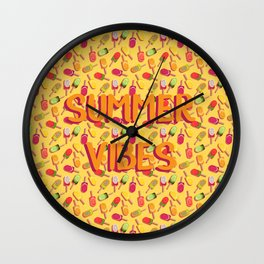 Summer vibes and fruit popsicles #society6 #decor #buyart Wall Clock