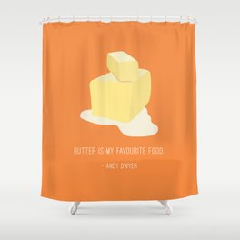 Andy Loves Butter Shower Curtain