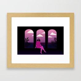 Mediterranean Summer Night Framed Art Print