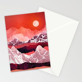 Scarlet Glow Stationery Cards