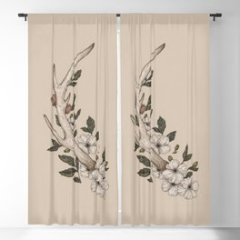 Floral Antler Blackout Curtain