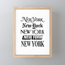 I Heart New York City Black and White New York Poster I Love NYC Design black-white home wall decor Framed Mini Art Print