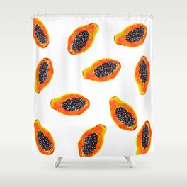 Papayas ricas! Shower Curtain