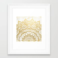 GOLD ORION JEWEL MANDALA Framed Art Print