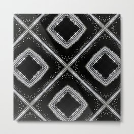 Black and White Pattern 03 Metal Print