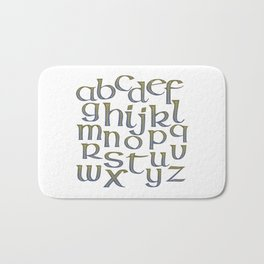 Celtic Knotwork Alphabet - A-Z - Abecedary Bath Mat