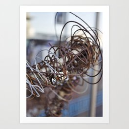 Abstract Wire Art Print