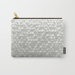 White hexagons Carry-All Pouch