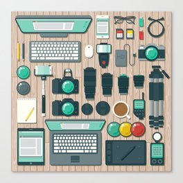 Photographer's Workspace Canvas Print