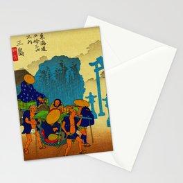 Travelers at Mishima Shrine Japan Stationery Cards