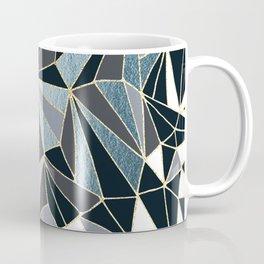 Stylish Art Deco Geometric Pattern - Black, blue, Gold #abstract #pattern Coffee Mug