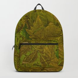 Autumn leaves. Pile of leaves Backpack
