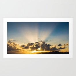 Sunset BVI Art Print
