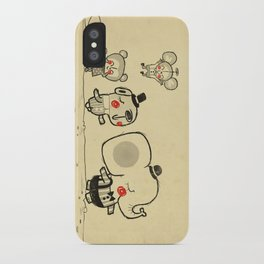 Forest Friends \ Cute Animals March\ elephant cats dogs  iPhone Case