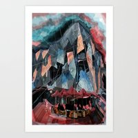 melbourne Art Prints featuring Melbourne by sladja