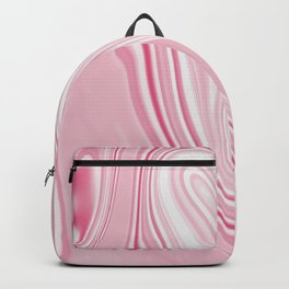 Pink Liquid Marble Backpack