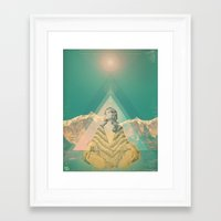 om Framed Art Prints featuring Om by REPEAT MANTRA
