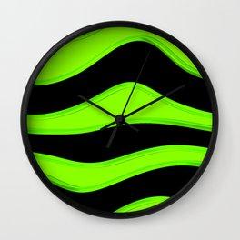 Hot Wavy E Wall Clock