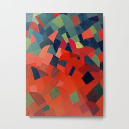 Grün-Rot Otto Freundlich 1939 Abstract Art Mid Century Modern Geometric Colorful Shapes Hard Edge Metal Print