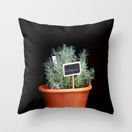 Lavender Plant Throw Pillow