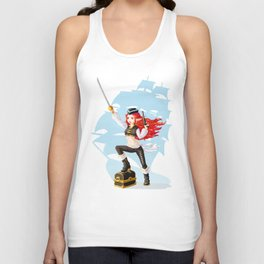 Pirate Girl Unisex Tank Top