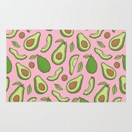 Avocado on Pink Rug